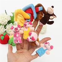8 шт палец куклы семьи ткань мягкая кукла-головоломка игрушка рука