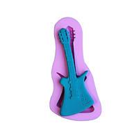 3D гитара fandant прессформы торта силикона шоколад плесень полимерной глины