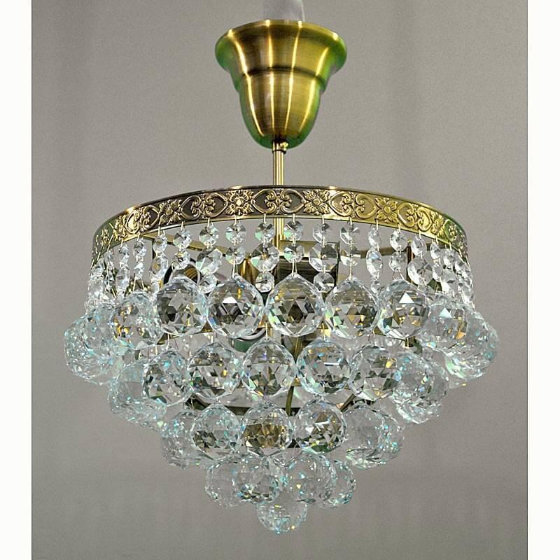 Хрустальная люстра на пять лампочек цвет античное золото SW-12325/5 FAB GB