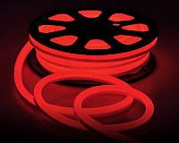 LED неон гибкий 220V 120led/m SMD3528 9,6W IP67 Красный