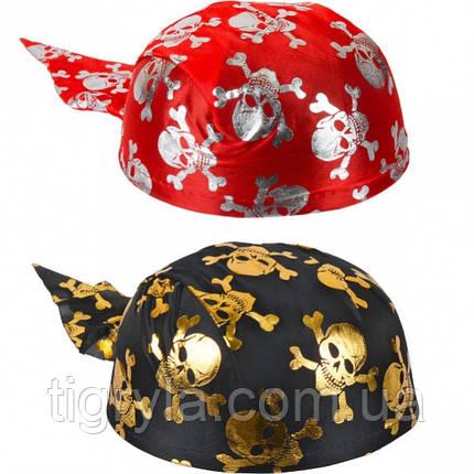 Бандана пиратская украшенная черепами, фото 2