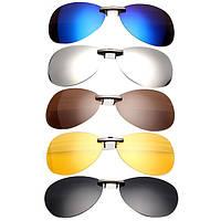 Поляризованный клип на солнцезащитные очки Солнцезащитные очки для вождения ночного видения Объектив
