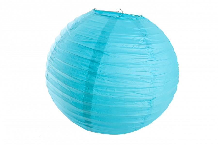 Бумажный подвесной шар бирюзовый, 30 см