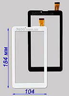 Сенсор, тачскрин Nomi C07000, C07005, C07008 черный, белый 30 pin 184*104 мм