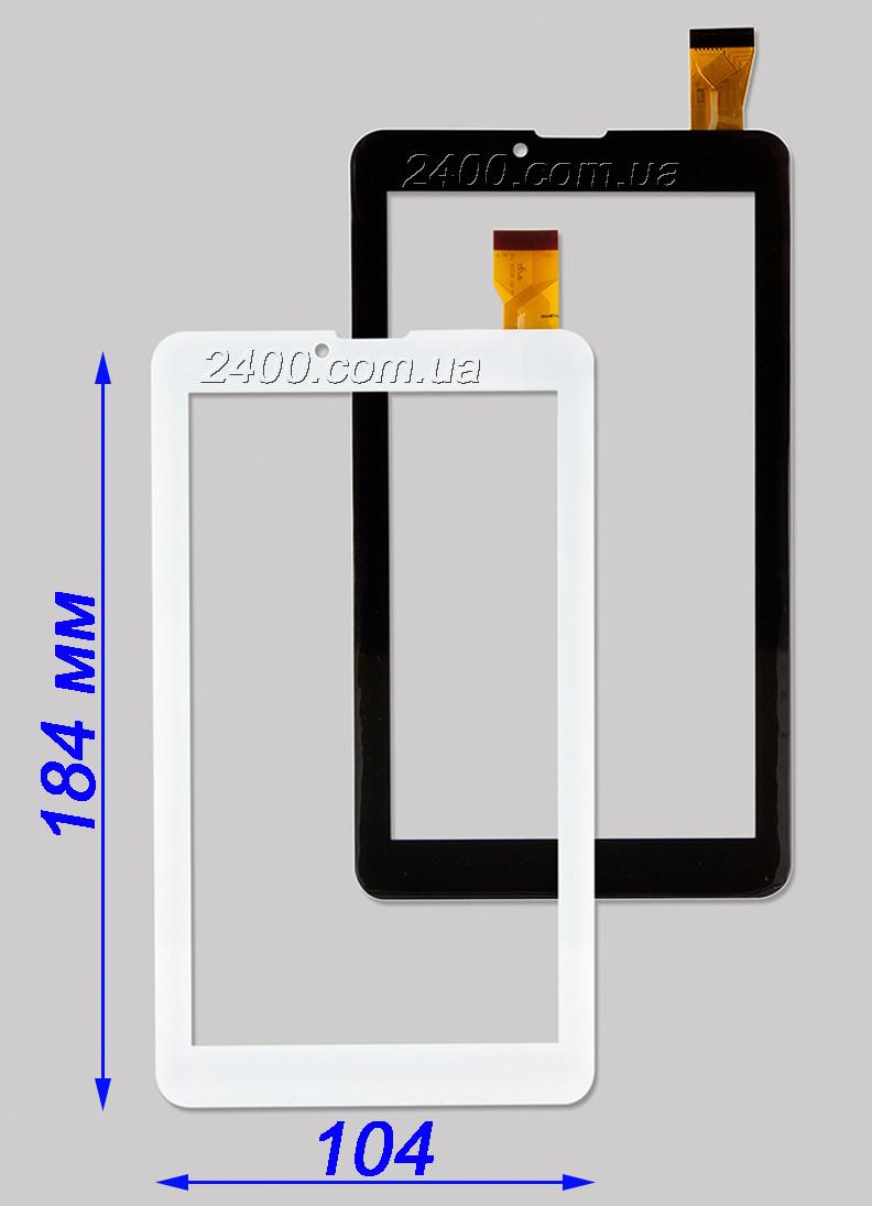 Сенсор, тачскрин Nomi C07000, C07005, C07008 черный, белый 30 pin 184*104 мм - Комплектуючі до комп'ютерної техніки 2400.com.ua в Киеве
