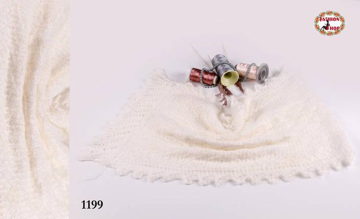 Оренбургский пуховый молочный палантин Зореслава, фото 2