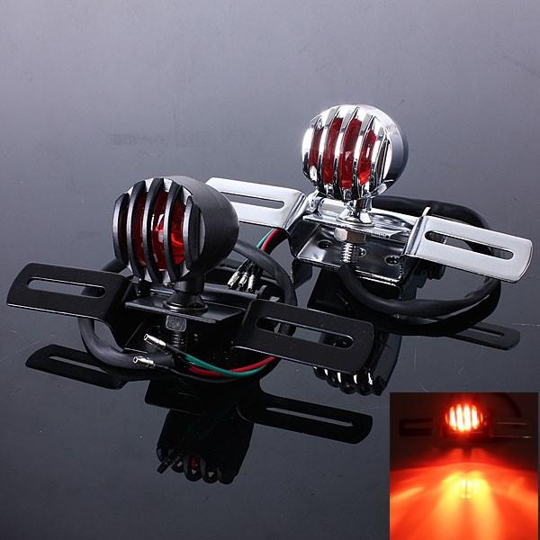 Мотоцикла задний тормоз заднего фонаря кронштейн для Harley измельчитель поплавок-1TopShop