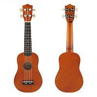 21 дюймов Акустическое сопрано укулеле Гавайи музыкальный инструмент