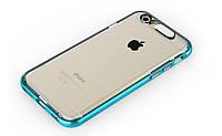 "Светящийся TPU чехол ROCK Tube Series для Apple iPhone 6/6s (4.7"") Синий / Transparent Blue"