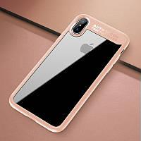 "TPU чехол Rock Clarity Series для Apple iPhone X (5.8"") / XS (5.8"") Розовый / Pink"