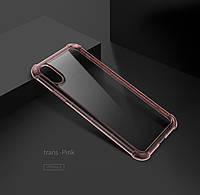 "TPU чехол ROCK Fence Pro series для Apple iPhone X (5.8"") / XS (5.8"") Розовый / Transparent pink"