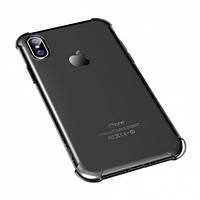 "TPU чехол ROCK Fence series для Apple iPhone X (5.8"") / XS (5.8"") Черный / Transparent black"