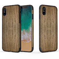 "Деревянная накладка Rock Origin Series (Grained) для Apple iPhone X (5.8"") / XS (5.8"") Black Rose"