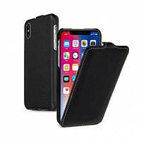"""Кожаный чехол (флип) TETDED для Apple iPhone X (5.8"""") Черный / Black"""