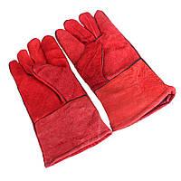 Одна пара теплостойкий сварщиков кожаные перчатки для защиты от