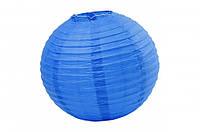 Бумажный подвесной шар синий, 30 см