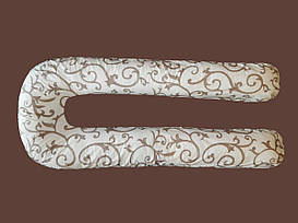 Цветная U образная подушка для беременных вензеля, со съемной наволочкой в комплекте.