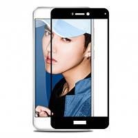 Защитное цветное стекло Mocolo (CP+) на весь экран для Huawei P8 Lite (2017) Черный