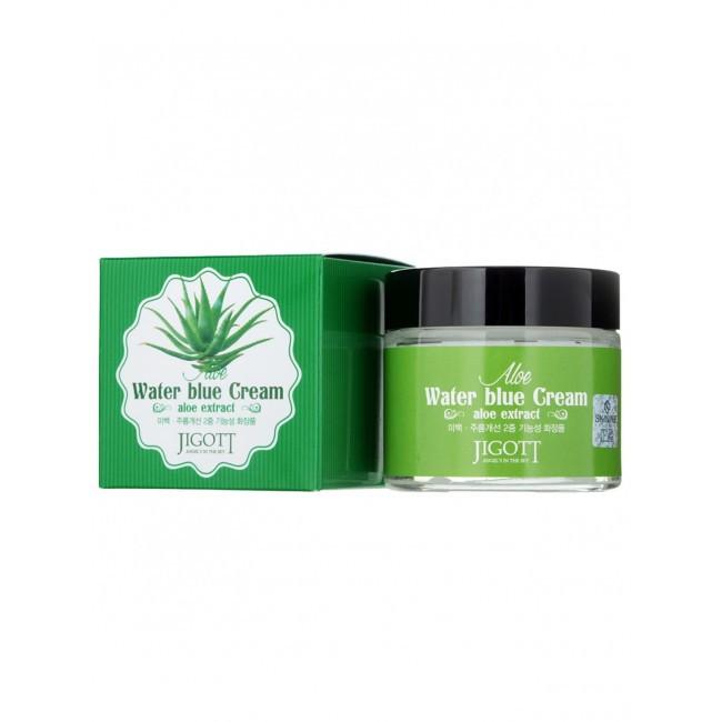 Успокаивающий крем с экстрактом алое Jigott Aloe Water Blue Cream, 70 мл