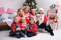 Новогодние  свитера с Оленями для всей семьи Family look