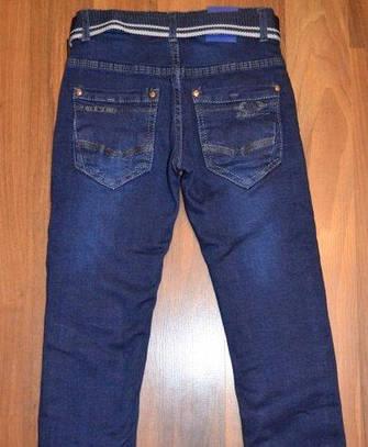 Детские джинсы на флисе для мальчика 134, 140, 146р