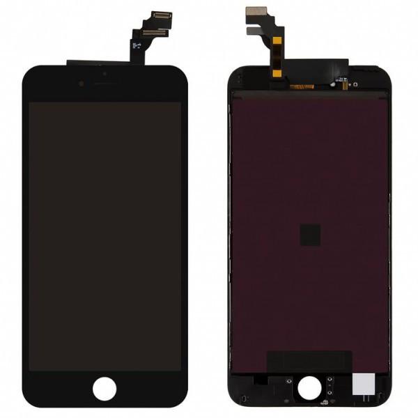 Дисплей (экран) для iPhone 6S Plus с сенсором (тачскрином) черный оригинал Китай переклеено стекло