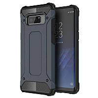Бронированный противоударный TPU+PC чехол Immortal для Samsung Galaxy Note 8 Серый / Metal slate