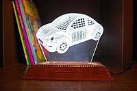 Светодиодный 3D Ночник Акриловый, со сменными вставками