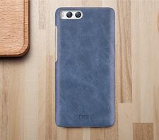 Кожаная накладка MOFI Heart Series для Xiaomi Mi 6 Синий
