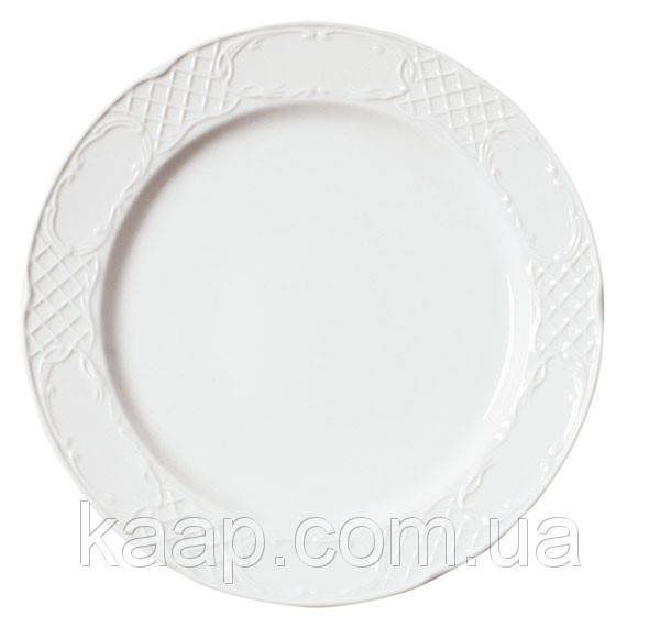 Тарелка круглая 27 см. фарфоровая, белая Augusta, Porvasal