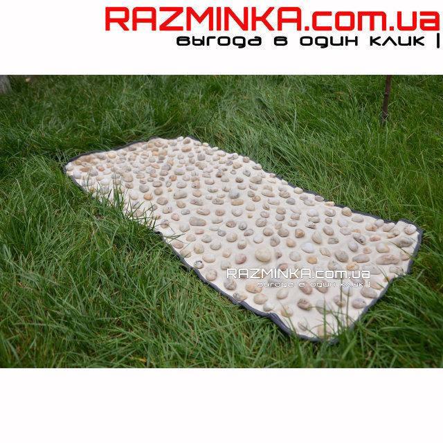 Массажный коврик с камнями Галька 90х40см