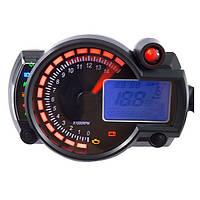 Регулируемая мотоцикл ЖК-цифровой спидометр цифровой одометр