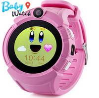 Детские умные часы Smart Watch GPS трекер Q360 pink / детские ЧАСЫ - ТЕЛЕФОН / Гарантия