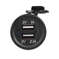 12В автомобильный USB Преобразователь интерфейса Dual USB Автомобильное зарядное устройство