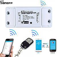 Дистанционный выключатель с таймером обратного отсчета времени 10А 220В Wi-Fi Smart Sonoff RF 433мГц