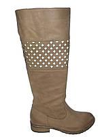 Сапоги демисезонные женские кожаные на каблуке Kati 5365