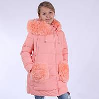 Пальто зимнее KIKO 4560 для девочки 128, 134,140
