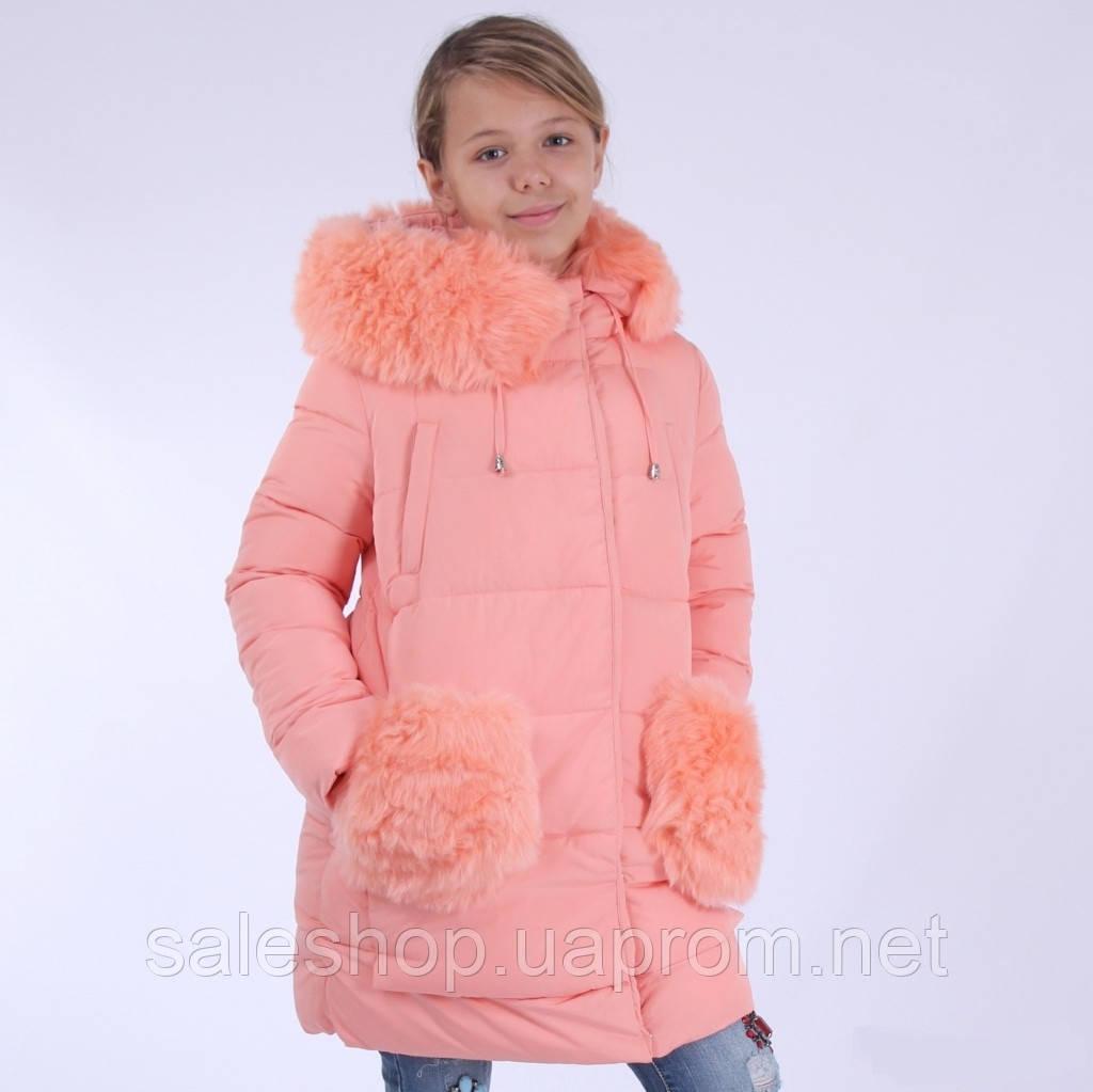 Пальто зимнее KIKO 4560 для девочки 128, 134,140 - sale-shop в Киеве