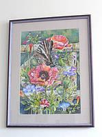 Картина в подарок «Бабочка в саду»