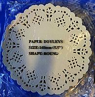 Салфетка ажурная одноразовая упаковка 250 шт d=14 (140 мм.)