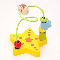 Детские деревянные игрушки мини морской серии вокруг бусины провода лабиринт