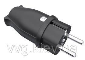 BK1-1402-2011 1*16 А Вилка (каучук) (20) BEMIS