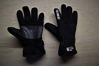 Тёплые флисовые перчатки The North Face Crown-Tex Black, Черный