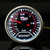 2-дюймовый универсальный автомобиль красный светодиод импульс авто манометр от -1 до 2 бар метр