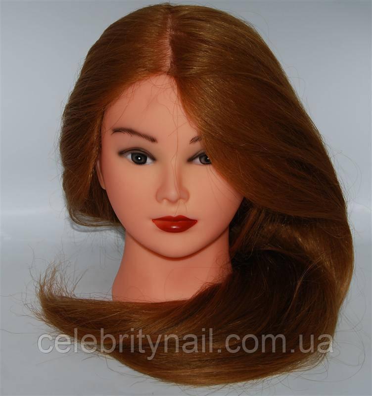 Голова манекена учебная с искусственными термостойкими волосами 4-519-27