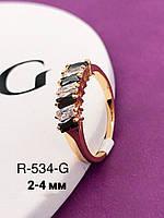 Кольцо женское позолота ХР. Размер 17