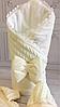 "Зимний вязанный конверт-одеяло  ""Дуэт"" (подклад махра) молочный"