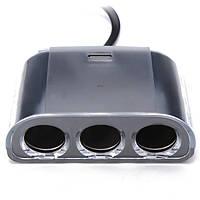 ВФ-076 120 Вт 3-х полосная автомобиля гнездо прикуривателя + 1 USB интерфейс