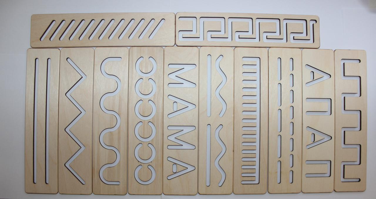 Набор развивающих линеек по методике Монтессори 12 штук с коробкой. Развивающие линейки