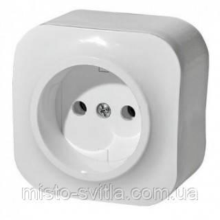 Розетка 2К (без заземления) белый Legrand Quteo Forix 782410